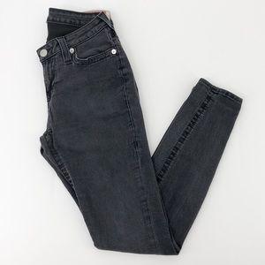 True Religion Black Curvy Skinny Leg Jeans